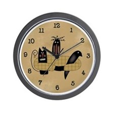 Friends Primitive Art Wall Clock
