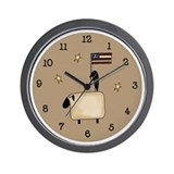 Americana Sheep Wall Clock