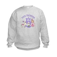 Unicorn Princess 5th Birthday Sweatshirt