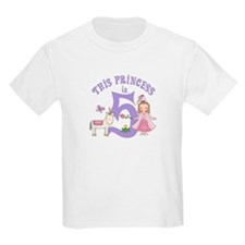 Unicorn Princess 5th Birthday T-Shirt
