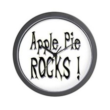 Apple Pie Rocks ! Wall Clock
