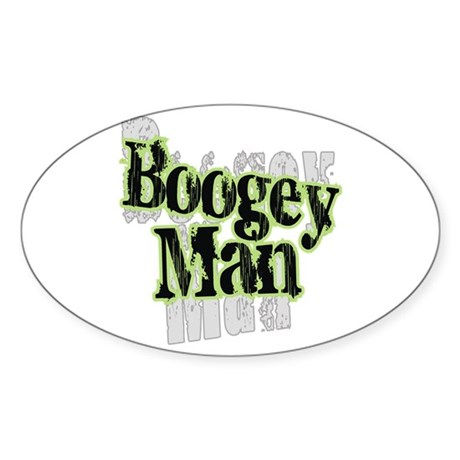 Boogey Man Oval Sticker