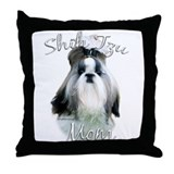 Shih Tzu Mom2 Throw Pillow
