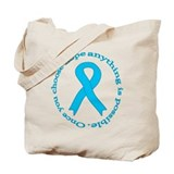 Light Blue Hope Tote Bag
