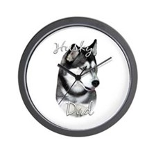 Husky Dad2 Wall Clock