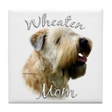 Wheaten Mom2 Tile Coaster