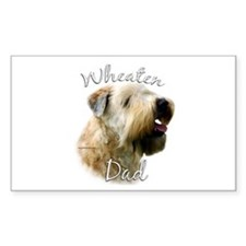 Wheaten Dad2 Rectangle Decal