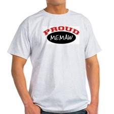 Proud Memaw (red & black) Ash Grey T-Shirt