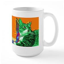 Tabby Cat Art  Mug