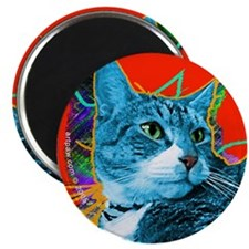 Tabby Cat Art Magnet