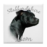 Staffy Mom2 Tile Coaster