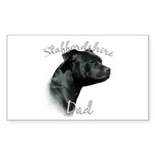 Staffy Dad2 Rectangle Stickers