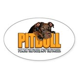 PITBULL Oval Décalcomanies