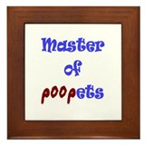 Master of Poopets Framed Tile