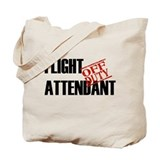 Off Duty Flight Attendant Tote Bag