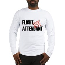 Off Duty Flight Attendant Long Sleeve T-Shirt