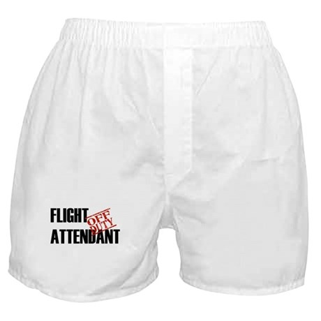 Off Duty Flight Attendant Boxer Shorts