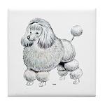 Poodle Dog Tile Coaster