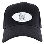 Poodle Dog Black Cap
