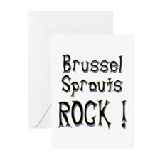 Brussel Sprouts Rock ! Greeting Cards (Pk of 10)