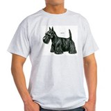 Scottish Terrier Dog (Front) Ash Grey T-Shirt