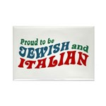 Jewish Italian Rectangle Magnet