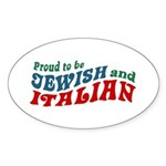 Jewish Italian Oval Sticker