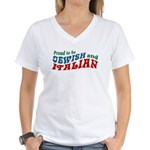 Jewish Italian Women's V-Neck T-Shirt