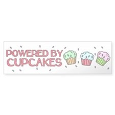 Powered By Cupcakes Car Sticker