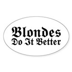 Redheads Do It Better Oval Sticker