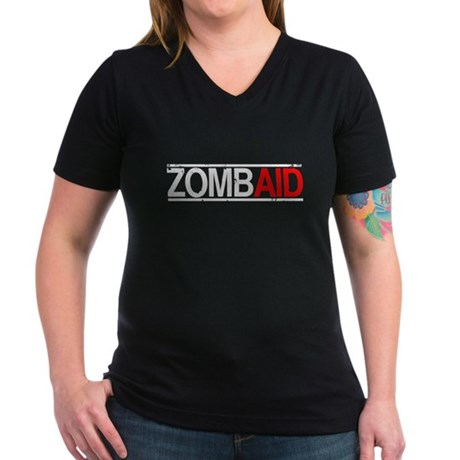 ZombAid Womens V-Neck T-Shirt