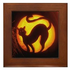 Cats Aglow Framed Tile