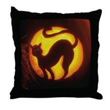 Cats Aglow Throw Pillow