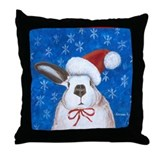 Santa Rabbit Throw Pillow