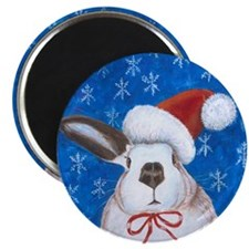 Santa Rabbit Magnet