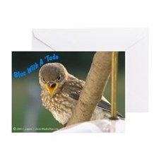 """Blue With A 'Tude"" Greeting Cards (Pk of 10)"