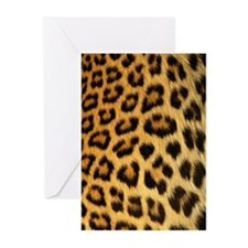 Leopard skin print Greeting Cards (Pk of 20)
