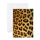 Leopard skin print Greeting Card