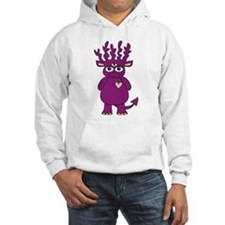 Purple Antlered Monster Hoodie