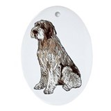 Wirehaired Pointing Griffon P Oval Ornament