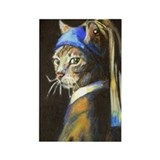 Cat with a Pearl Earring/ Vermeer Spoof magnet