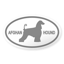 Afghan Hound Oval Decal