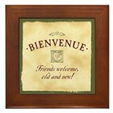 Bienvenue -- A French Welcome Framed Tile