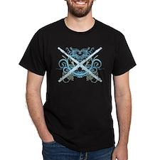Grunge Music Flute Dark T-Shirt