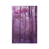 Violet Winter Woods Rectangle Magnet (10 pack)