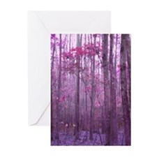 Violet Winter Woods Greeting Cards (Pk of 20)