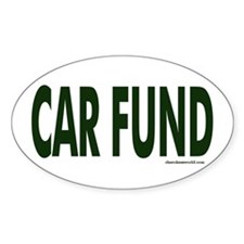Car Fund Oval Decal