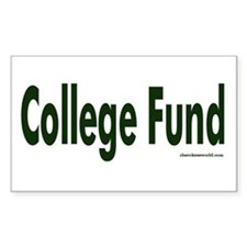 College Fund Tip Jar Rectangle Decal