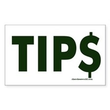 Tip Jar Rectangle Decal