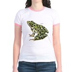 Leopard Frog (Front) Jr. Ringer T-shirt